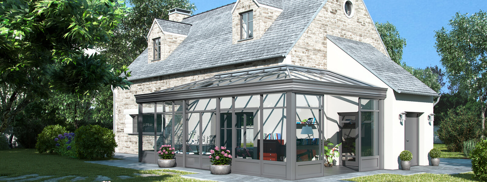 terrasse transformée en véranda